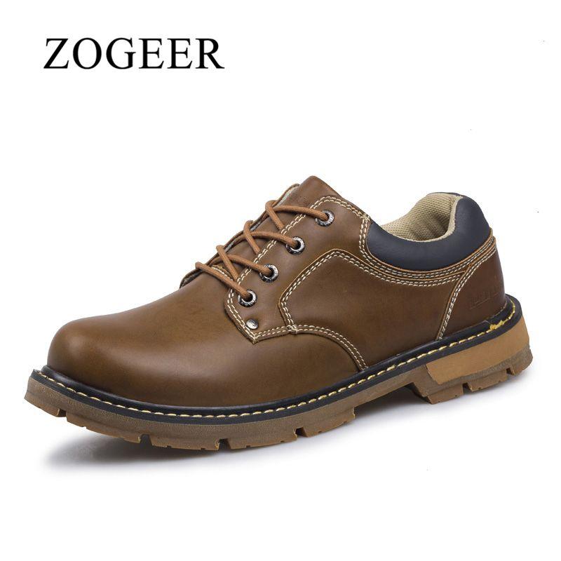ZOGEER ботинки мужские ЕВРО-РАЗМЕР 40-45, Высокое качество простой ботильоны, мода зима ботинки