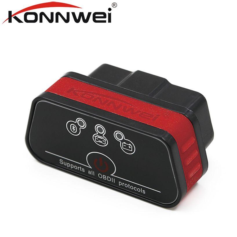 Konnwei KW901 автомобильной ELM327 V1.5 Bluetooth OBD2 сканер автомобиля чтения obd 2 сканирования инструмент диагностики iCar2 авто