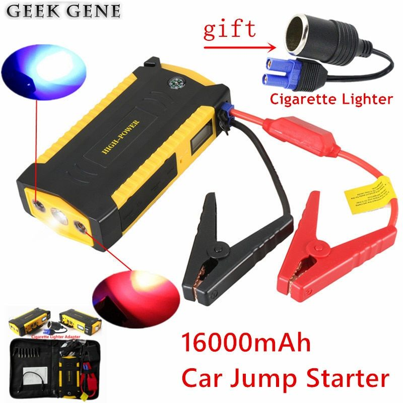 Car Jump Starter 600A Portable Car Charger For Car Battery 16000mAh Starting Device Lighter Power Bank Diesel Petrol Car Starter