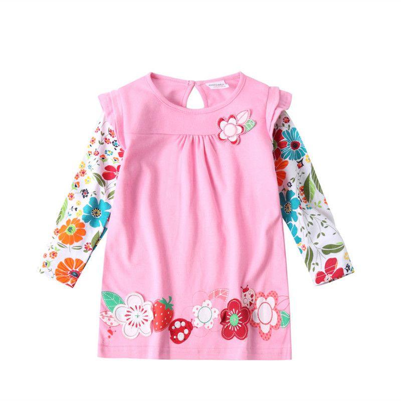 Novatx Платье для девочек Одежда для маленьких девочек вышитый цветок принцессы Длинные рукава Детские платья для девочек Новогоднее платье п...