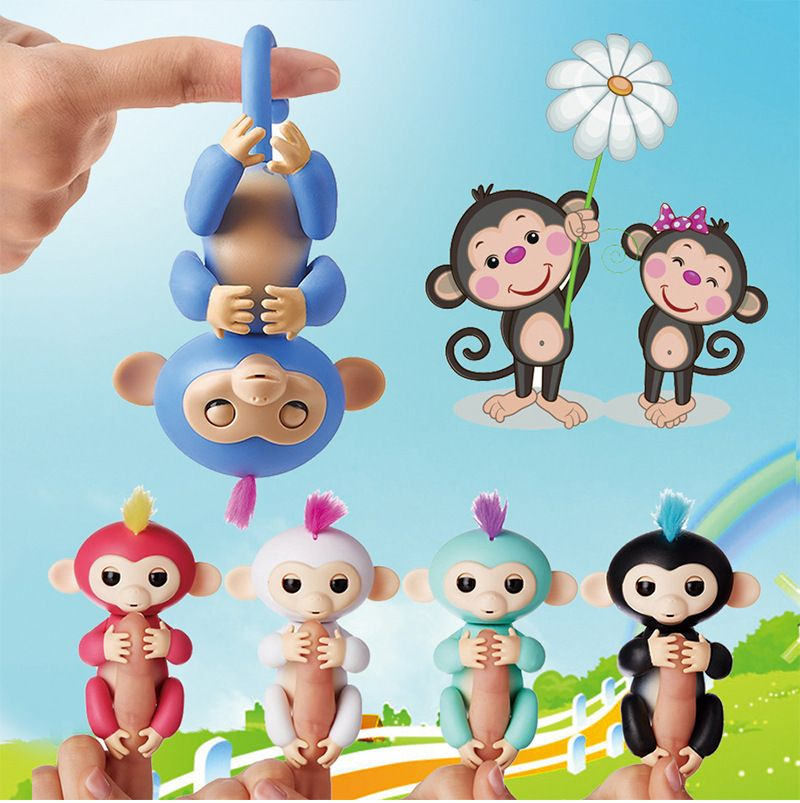 Happy Monkey Finger baby Monkey Interactive Baby Pet Intelligent Toy Tip Monkey Smart Electronic Pet finger monkeyToys