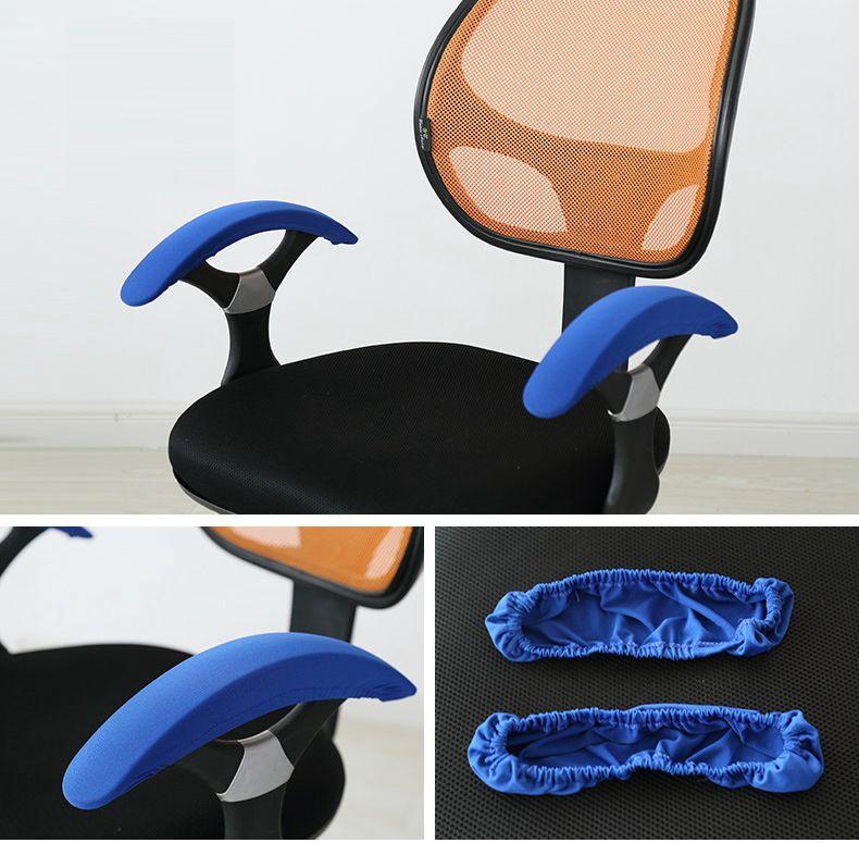 Colorida cubierta de la cubierta apoyabrazos para silla de la computadora de oficina apoyabrazos arm rest cubierta decoración lycra spandex cubierta de la silla de la computadora
