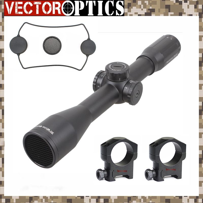 Vector Optics Marksman 10x44 Sniper Crystal Clear Riflescope Tactical Waterproof High Shock Resistance Scope with MP Reticle