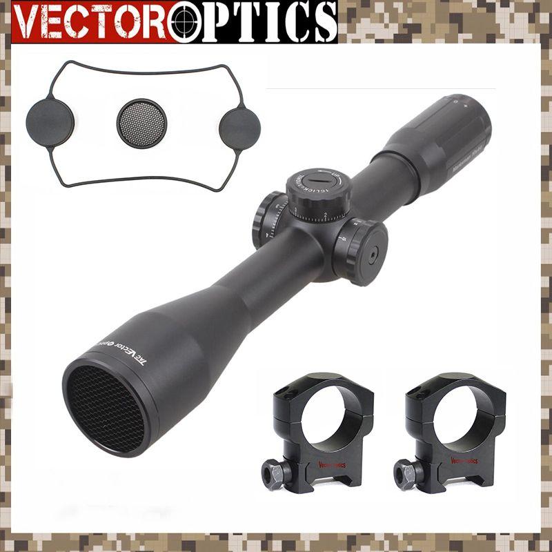Vector Optik Schütze 10x44 Sniper Kristall Klar Zielfernrohr Taktische Wasserdichte Hohe Schock Widerstand Umfang mit MP Absehen