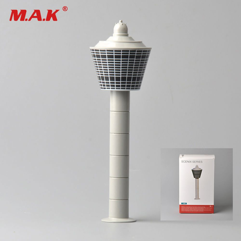 1:400 Scale White Diecast Airport Tower Set Scenix Series Model Aerodrome Control Tower for Airplane Scene Toy Collections