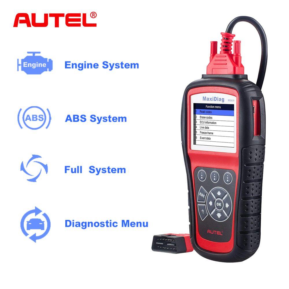 Autel OBD2 Auto Diagnose Werkzeug MD805 MaxiDiag Elite Alle System Code Reader Scanner ABS SRS EPB Besser zu MD802 Werkzeuge für Auto