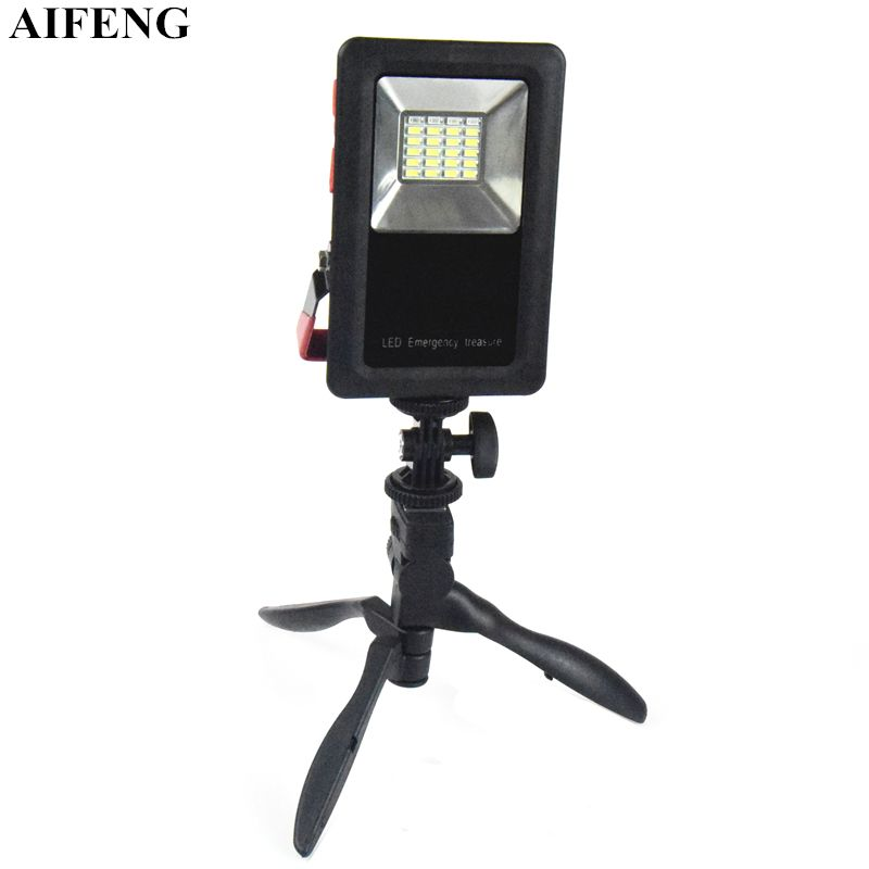 AIFENG 30W Portable Spotlight 2400LM 24Leds Floodlight Work Light 18650 Operate USB Rechargeable Outdoor Emergency Camping Lamps