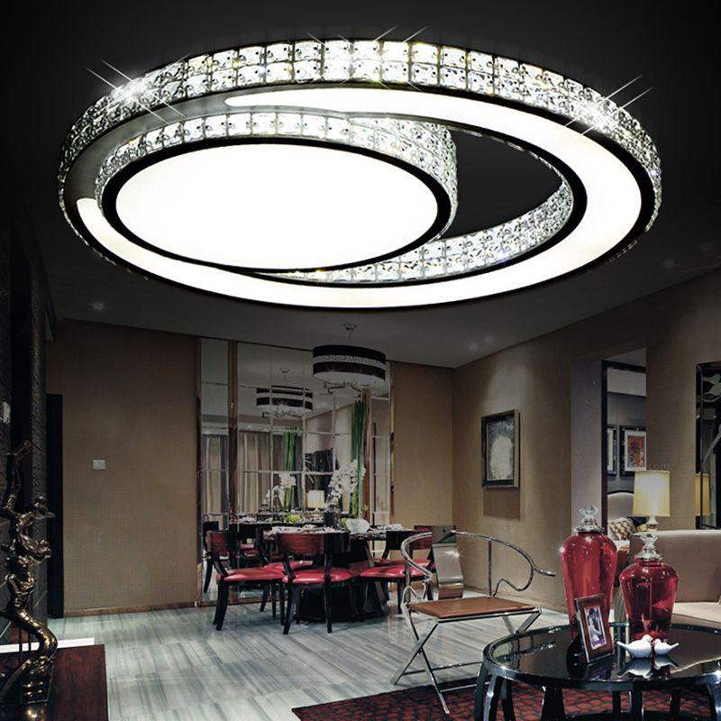 Modern Led Crystal Ceiling Light For Living Room bedroom Hallway Dining room 90-260v Led Lustre Cristal Lamp For Home lighting