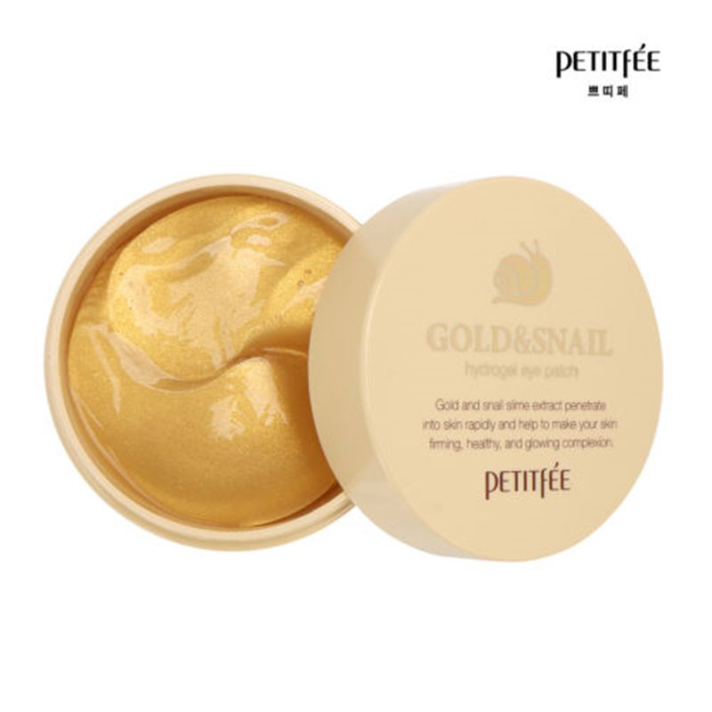 PETITFEE Gold Snail Eye Patch 60pcs Face <font><b>Care</b></font> Remove Black Finelines Firming Eye Bags Repair Eye Mask Sleep Masks
