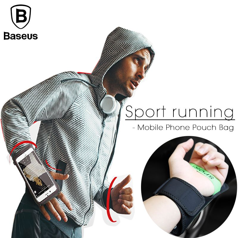 Baseus Sport ArmBands Case For iPhone 6 6S 7 Plus Outdoor Waterproof Running Gym Phone Pouch Cover For Samsung S8 Arm Band Bag