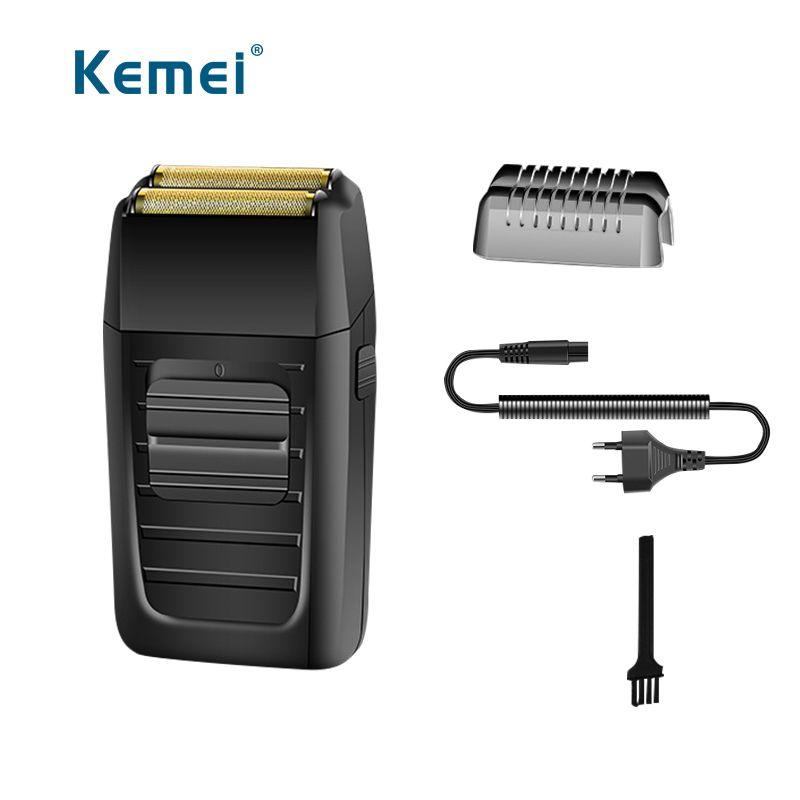 Kemei Électrique alternatif cheveux rasoir double lame rechargeable tondeuse rasoir pour hommes soins du visage hair remover machine