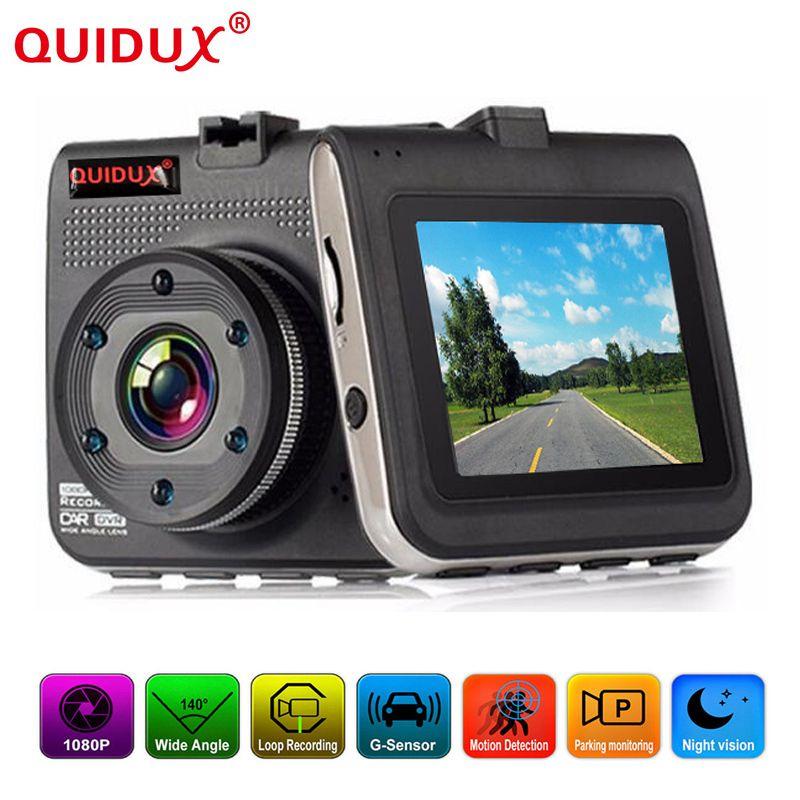 QUIDUX 2.2 inch screen Full HD Car DVR mini Vehicle Dash car Camera Cam Recorder Video Registrator Parking Recorder G-sensor