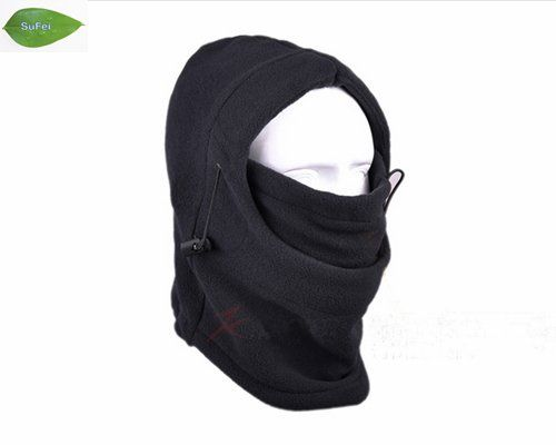 TH01 Black Warm Full Face Cover Winter Ski Mask Beanie Hat Scarf, Fishing Hat