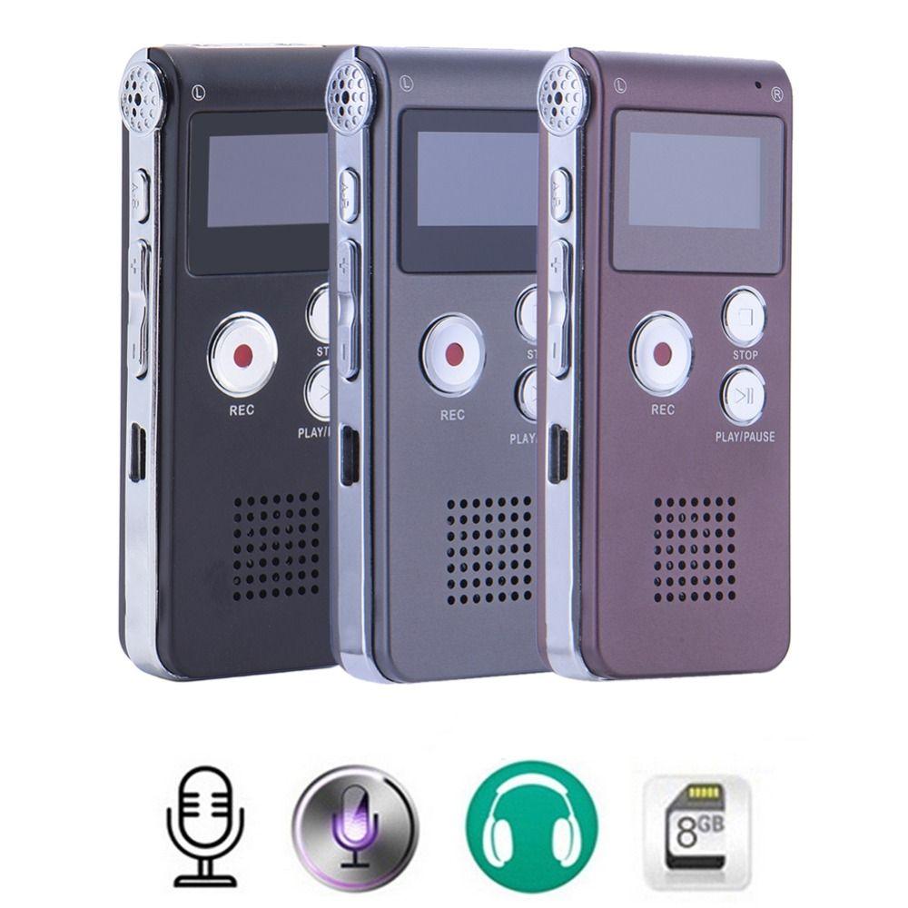 8 gb Numérique USB Enregistreur Vocal MP3 Dictaphone Enregistreur Stylo Stéréo Enregistrement Audio Enregistreurs MP3 lecteur 3 Couleur