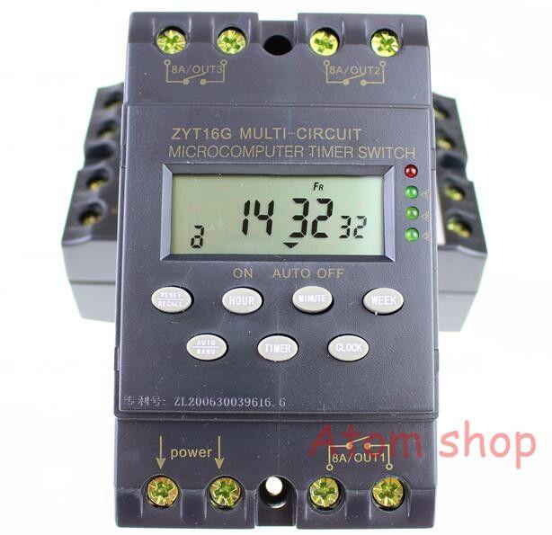 Minuterie interrupteur ZYT16G-3a 220 v 25A cycle micro-ordinateur temps contrôlée commutateur minuterie contrôleur étanche anglais version