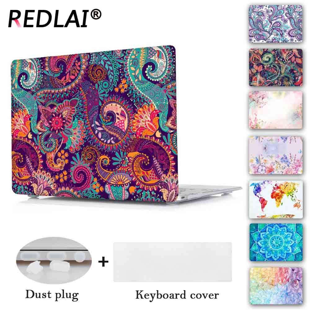 Redlai Couleurs Crystal Clear Mallette Pour Ordinateur Portable Pour Macbook Pro 13.3 15.4 Retina 2018 Air 13 pouce 2016 Nouveau Pour Macbook pro 13 Tactile bar