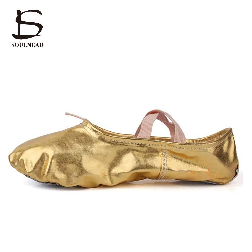 Nouvelle Annonce Or Paillettes Ballet De Danse Chaussures Grande Taille Fille Pratique de Danse Chaussures Enfants Festival Performances Chaussures