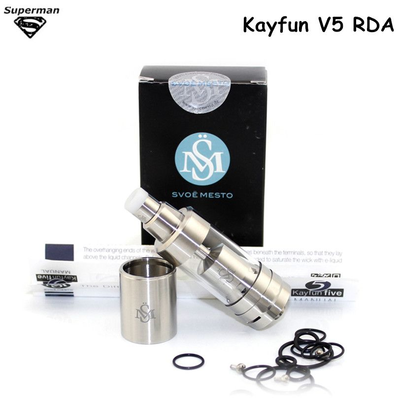 SOUS TWQ RDA Kayfun V5 Atomiseur Contrôle Airflow Reconstructible Goutteur Grande Vapeur Réservoir 316 En Acier Inoxydable E Cigarette Vaporisateur