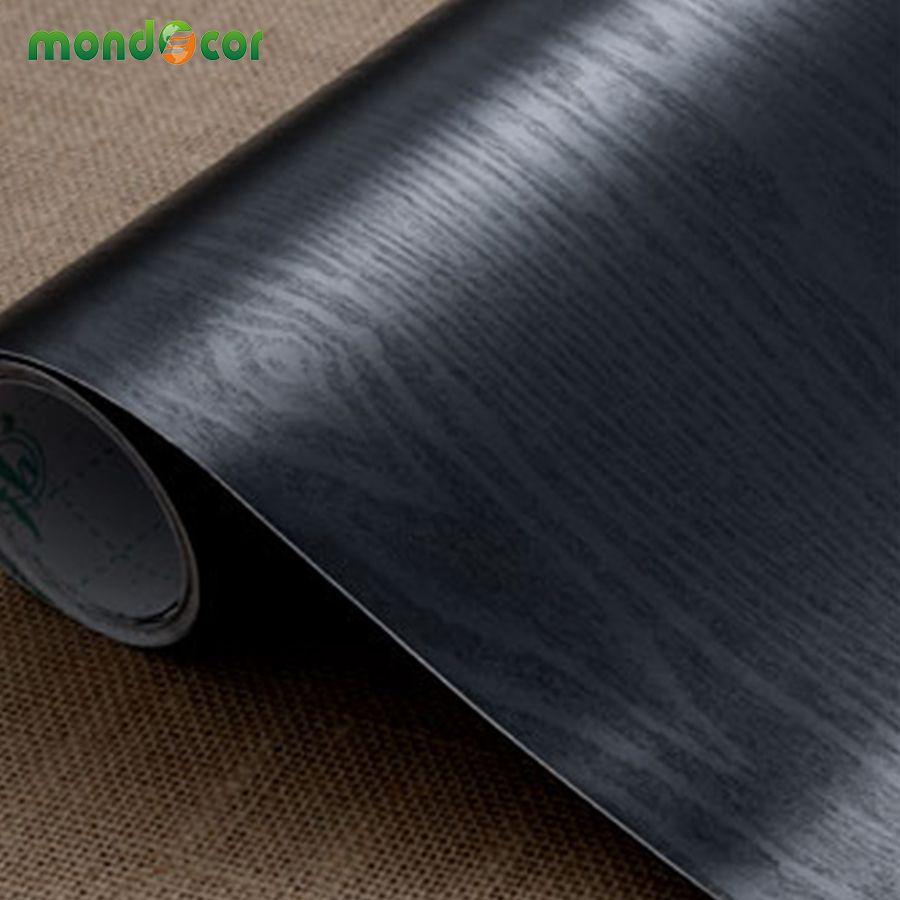 PVC Auto-Adhésif Papier Peint Décoratif Film Meubles Rénovation Cuisine Armoire garde-robe Imperméable Bois Grain Mur Autocollants