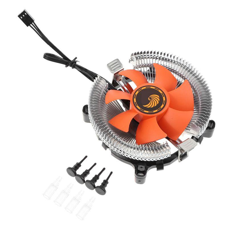 Ventilateur refroidisseur de processeur 12 V roulement hydraulique radiateur ventilateur ordinateur PC boîtier refroidissement par Air radiateur pour Intel 775 1150 1155 1156 AMD754 939