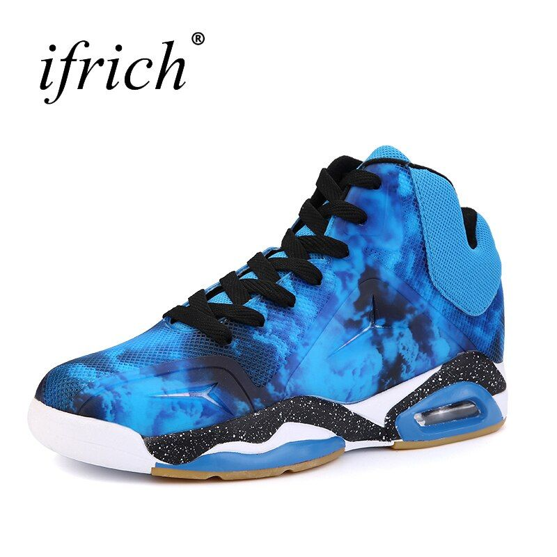 2017 New Trend Men's Basketball Shoes High Top Men Training Sneakers Brand Air Cushion Basketball Boots Male Cheap