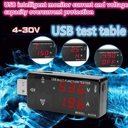 New detector QC USB test voltage and current meter digital display mobile phone charging safety monitoring instrument MODEL:A008
