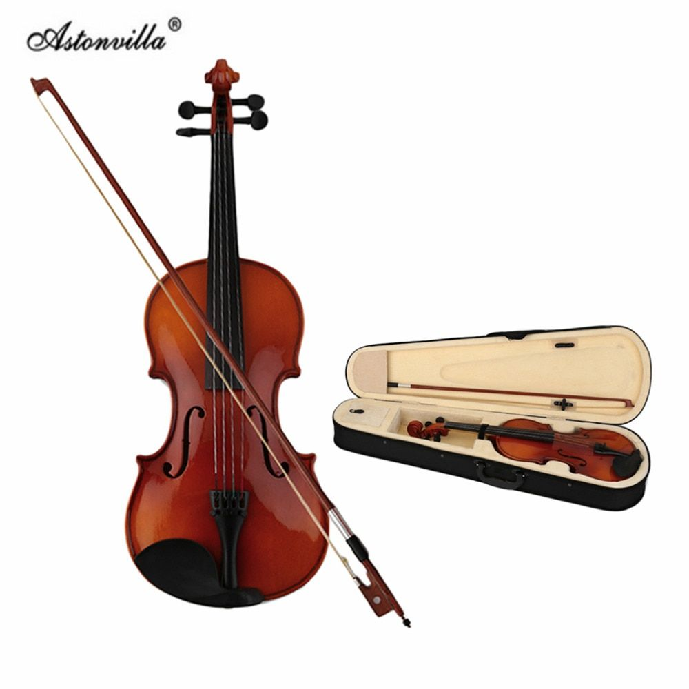 Astonvilla Spruce Solid Wooden 4/4 Violin Lacquer Light Fiddle 4-String Instrument Maple Solid Wooden Both Beginner Professional