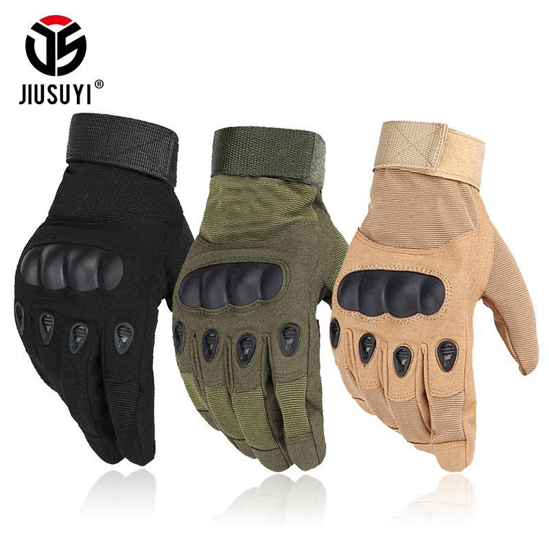 Armée tactique militaire dur Knuckle complet doigt gants Airsoft Paintball tir Combat travail sans doigts demi-doigt gants