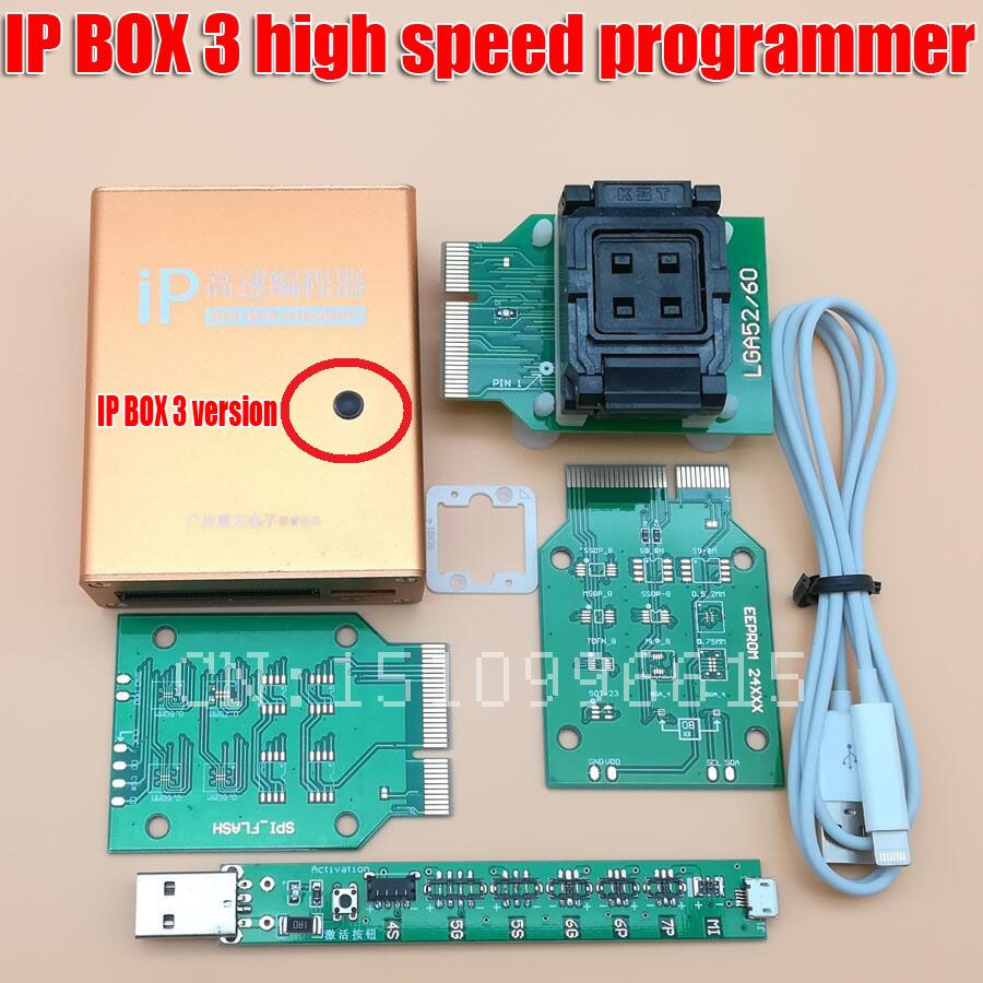 ip box high speed programmer ip box3 for phone &pad hard disk programmers 4 4s 5 5c 5s 6 6plus memory upgrade tools 16g to128gb
