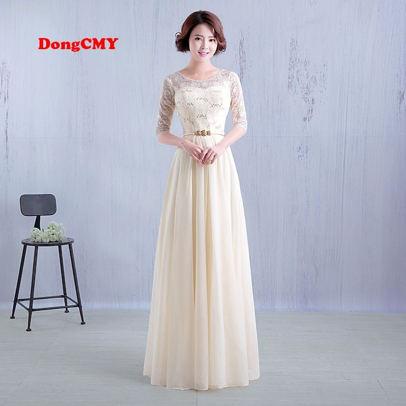 DongCMY 2018 New fashion floor length long design vestido de festa robe de soiree Bridesmaid dress