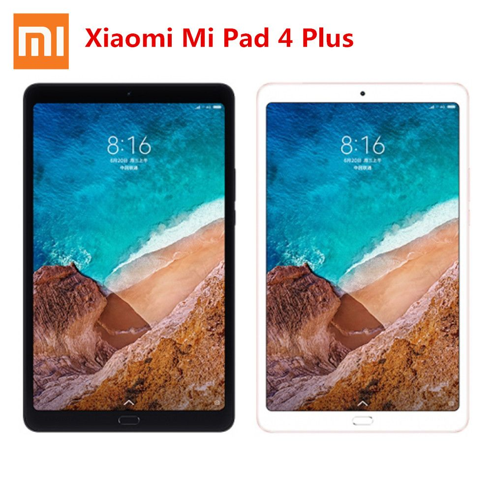 Original Xiaomi Pad 4 Plus Tablets 10.1'' Screen MIUI 9.0 Qualcomm Snapdragon 660 Facial Recognition 4GB RAM 64GB/128GB EMMC