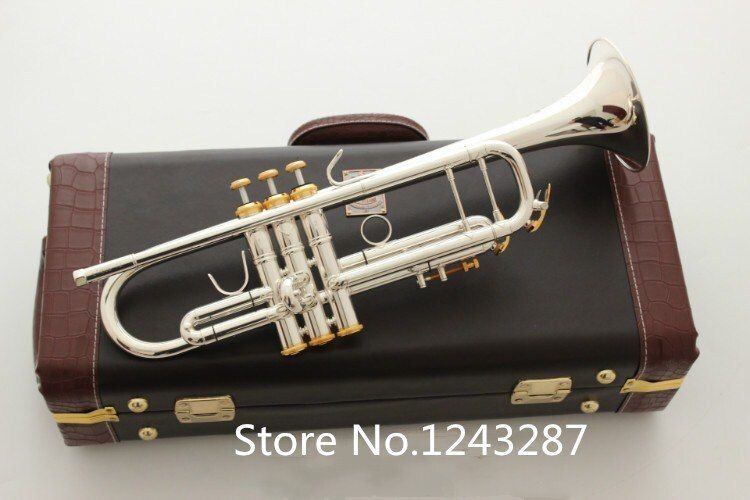 Trumpet LT180S72 B Flat Silver plating professional trumpet bell Top musical instruments Brass High Quality performance Shipping