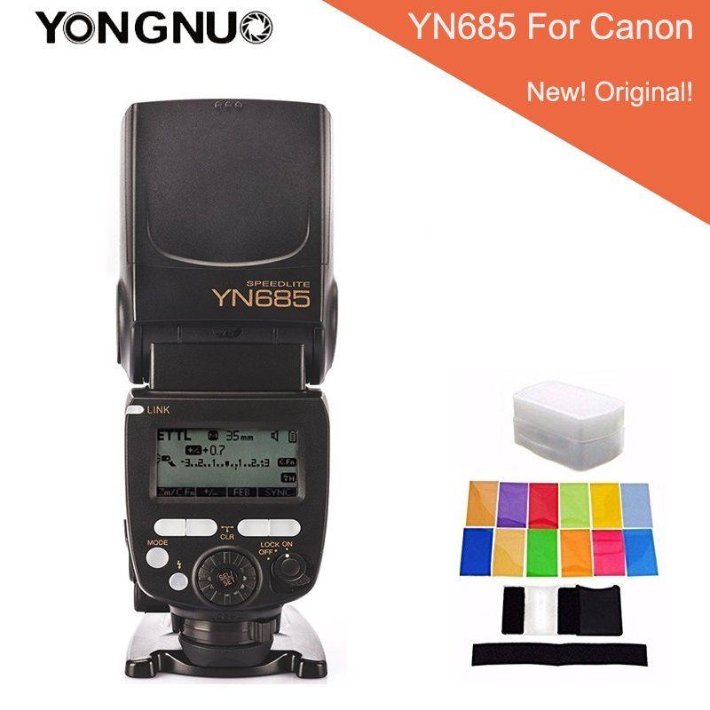 YONGNUO YN685 YN-685 Wireless HSS TTL Speedlite Flash Built-in Receiver Worked with YN622C YN622II-C YN622C-TX For Canon + gifts
