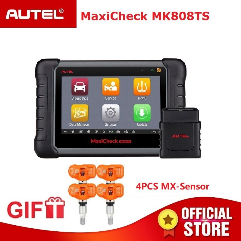 Autel MaxiCheck MK808TS OBD2 TPMS Diagnose Werkzeug OBD 2 Scanner Automotive OBDII Code Reader Schlüssel Programmierung MX Sensor IMMO DPF