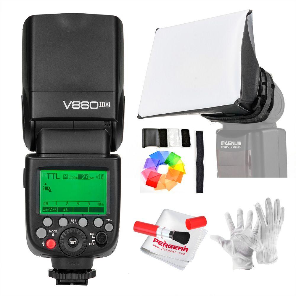 Godox V860II-S V860IIS TTL Speedlite Flash GN60 HSS 1/8000s with Li-ion Battery  for Sony A7R A7RII A58 A99 A6000 DSLR MI Shoe