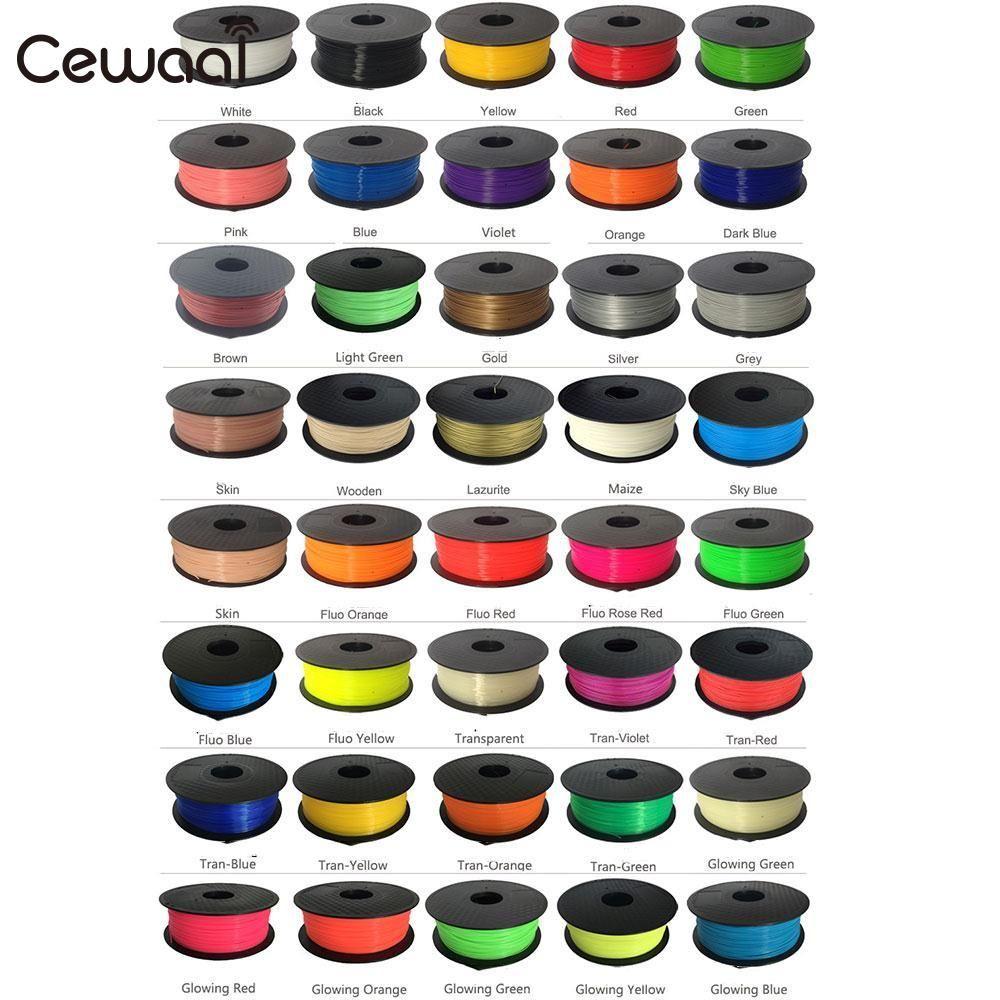 CEWAAL 3D Printer Materials 20pcs/set PLA Filament 5M 20 Colors 1.75mm PLA 3D Print Filament For 3D Pen