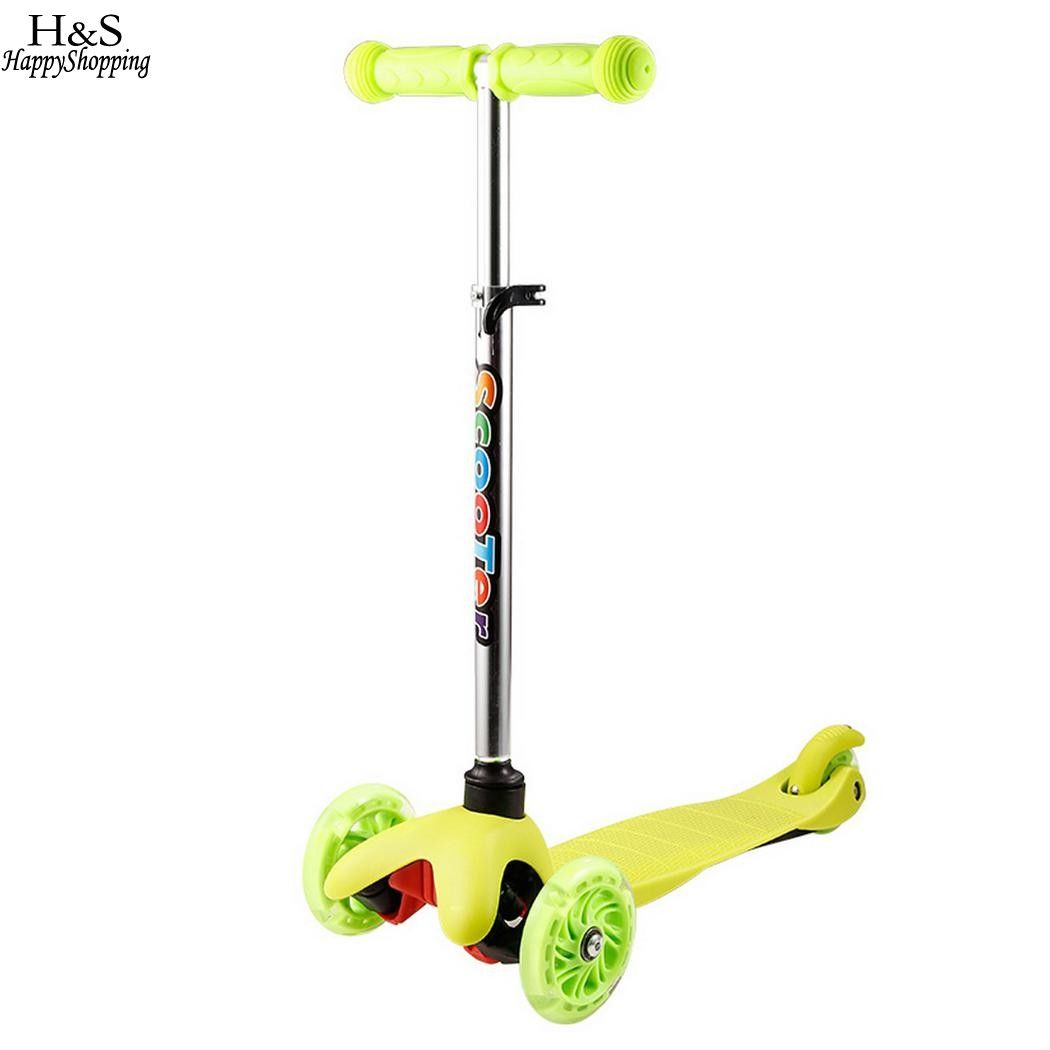 New Tricycle Kick Scooter Children's Foot Scooters Adjustable Height with LED Light Wheel Patinete Infantil kids Scooter