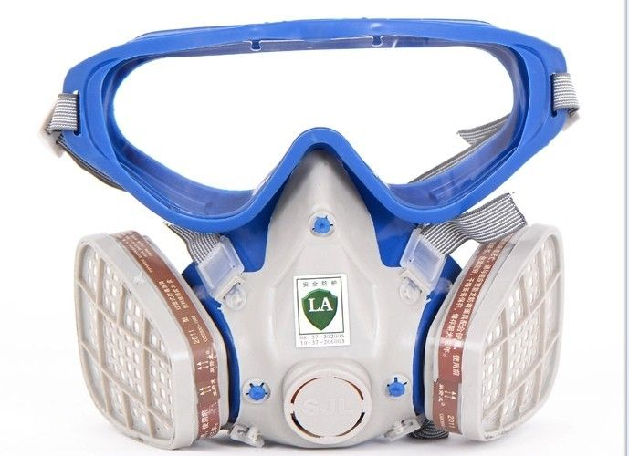 Silicone respirator gas mask pesticide pintura full face carbon filter mask paint spray gas boxe protect mask