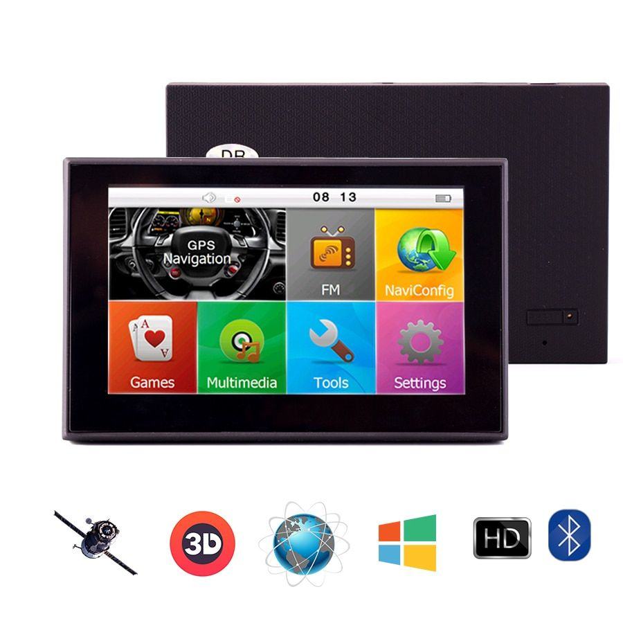 5 Inch Sensitive Touch Screen Car GPS Navigation CPU800M 8G AV-IN Free latest Maps High Brightness/Definition Lifetime map