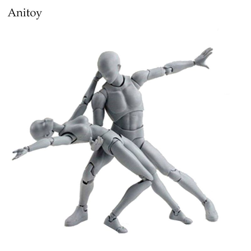 SHFiguarts BODY KUN / BODY CHAN body-chan body-kun Grey Color Ver. Black PVC Action Figure Collectible <font><b>Model</b></font> Toy