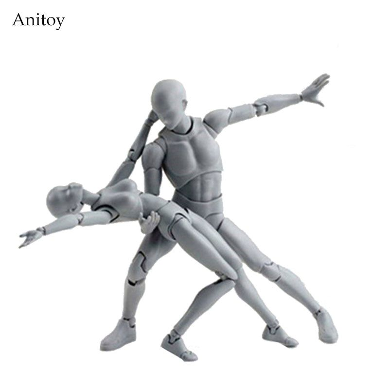 SHFiguarts BODY KUN / BODY CHAN body-chan body-kun Grey Color Ver. Black PVC Action Figure Collectible Model Toy