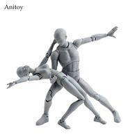 SHFiguarts BODY KUN / BODY CHAN body-chan body-kun Grey Color Ver. Black PVC Action Figure Collectible Model Toy