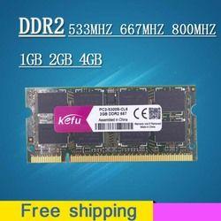 Dijual 1 GB 2 GB 4 GB DDR2 667 800 533 667 MHz 800 MHz PC2-5300 PC2-6400 SODIMM Jadi- DIMM SDRAM Memori RAM Memoria Untuk Laptop Notebook
