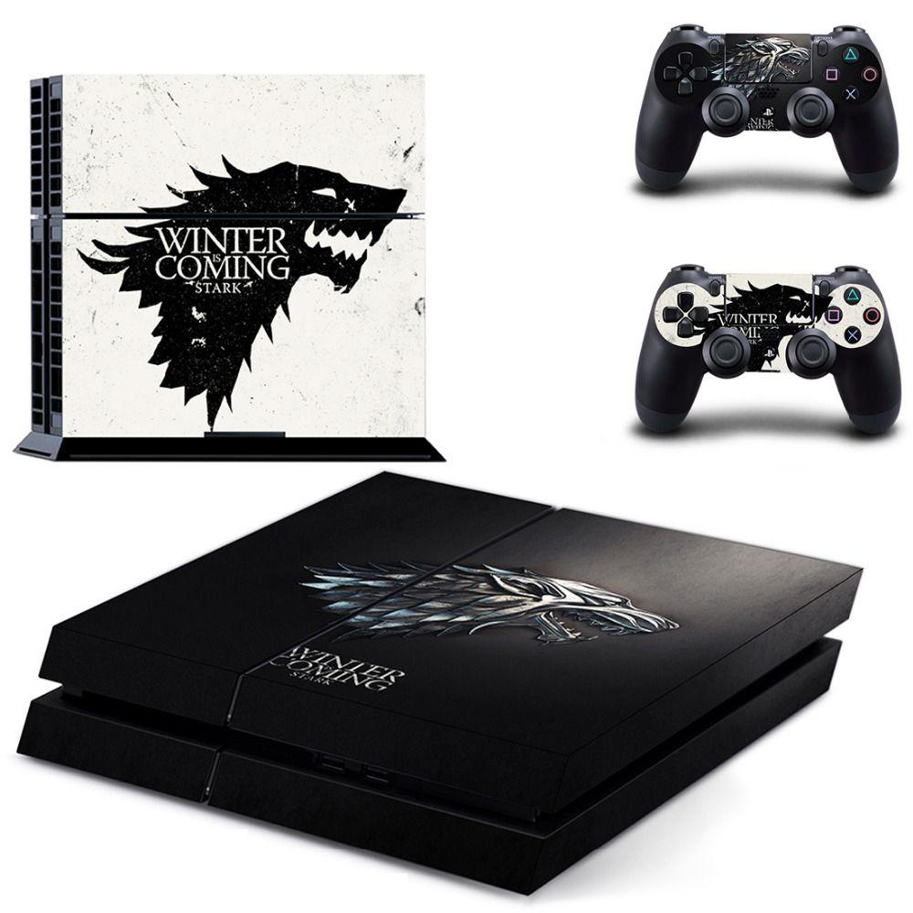 Game of Thrones Winter arrive autocollant peau PS4 pour Console Sony PlayStation 4 et 2 manettes PS4 autocollant peau vinyle
