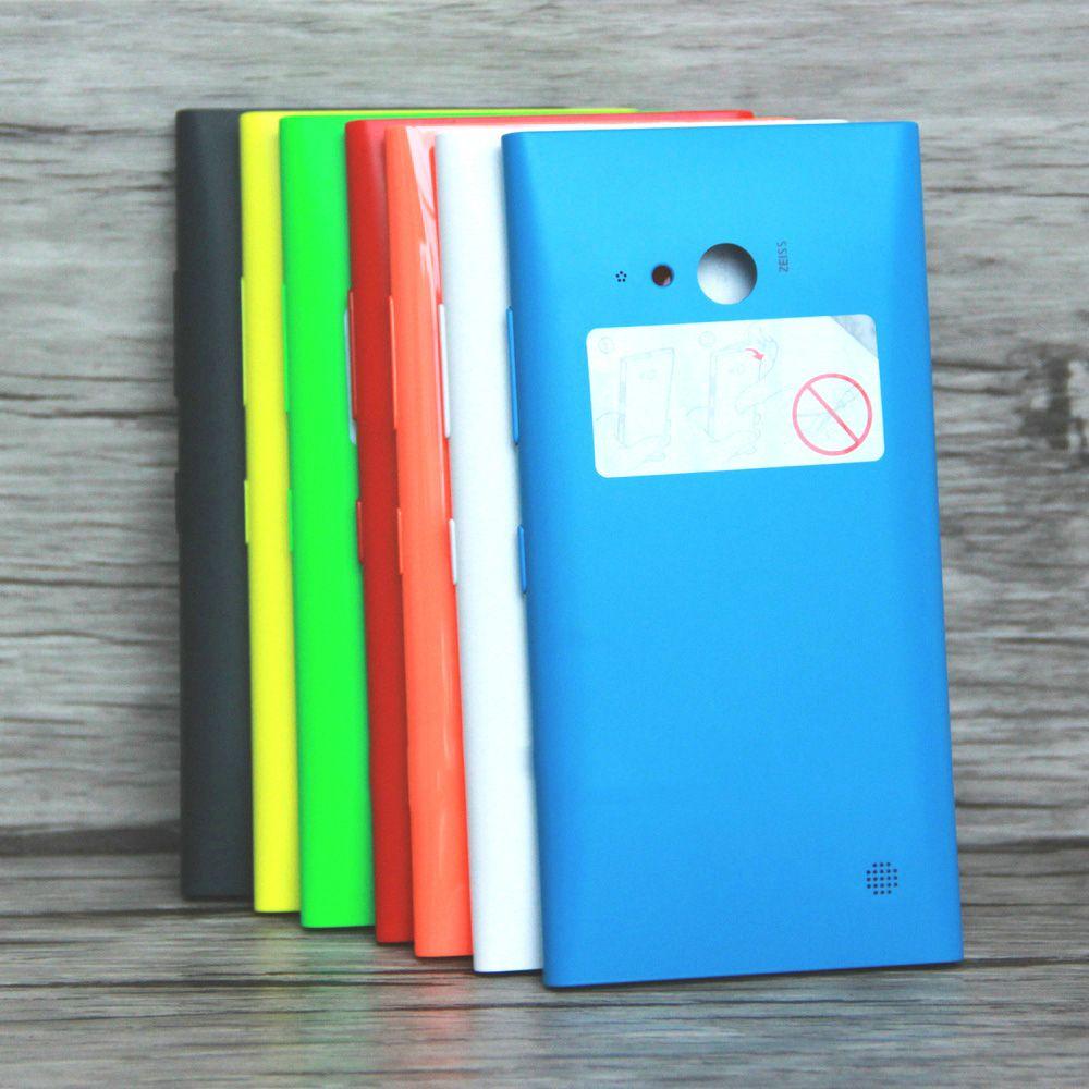 Brand new Rückseite Fall für Nokia lumia 730 735 Batterie abdeckung Gehäuse-tür Ersatz für Nokia 730 735 mit seitlichem knopf