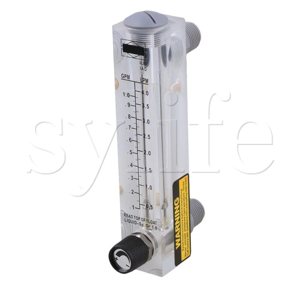 LZM-15T Adjustable Panel Type Flowmeter Flow Meter for Liquid 0.5-4LPM