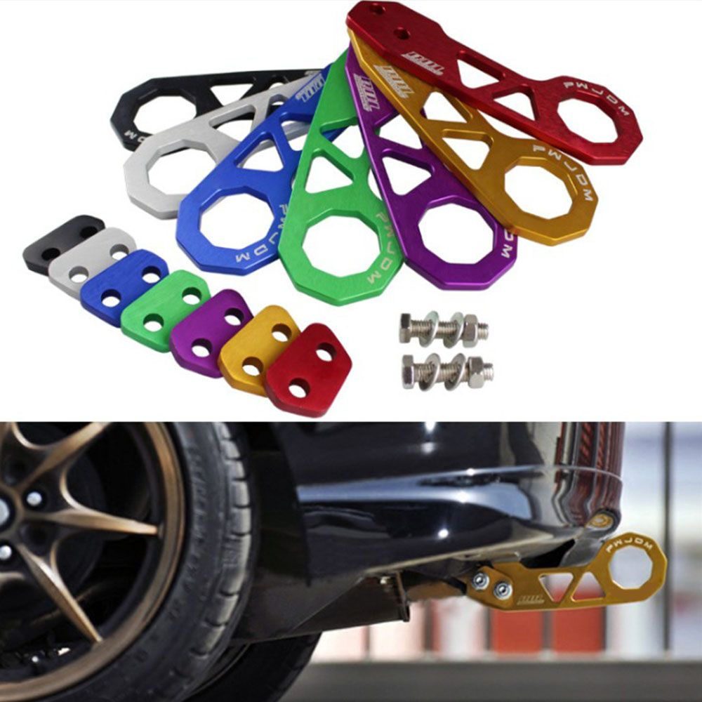 Rear Tow Towing Hook for Universal Car Auto Trailer Ring Aluminum Racing Trailer Hook Red / Black / Blue