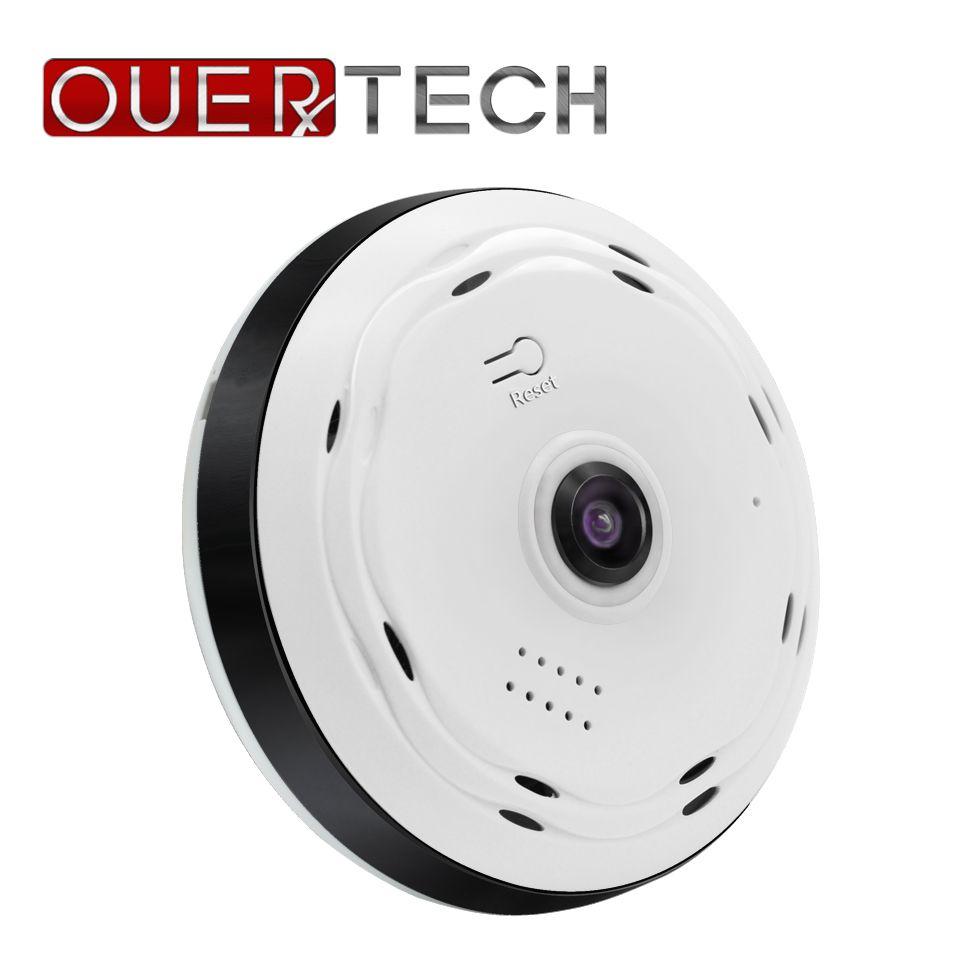 OUERTECH vue complète 360 degrés VR WIFI panoramique 960p maison Fisheye caméra IP intelligente sans fil prise en charge 64g app ICSEE