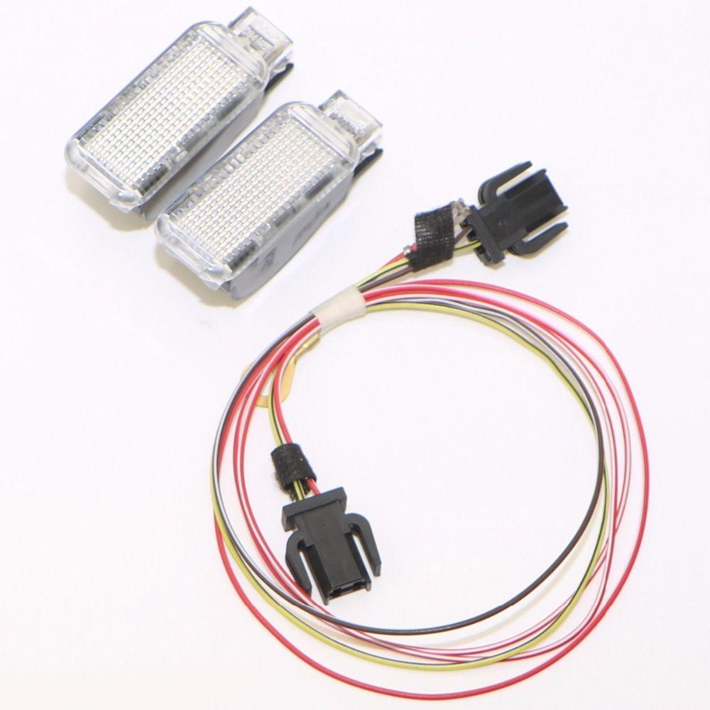 Car Rear Trunk Door Panel Warning Light + Cable Harness For Q3 Q5 Q7 TT A3 A4 A6 Sharan Phaeton Seat Leon Exeo 8KD 947 415 C