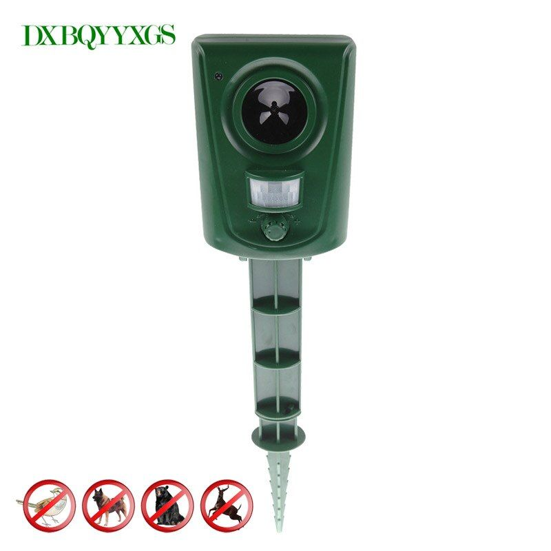 Large outdoor animal expellers ultrasonic drive dog cats wildlife infrared sensor Pest repeller Moles reject rodent Bird control
